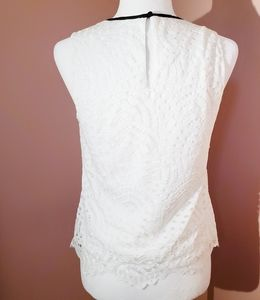 New York & Company Tops - New York & Co white lace peasant boho top xs